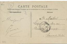 CP Envoi à Lagrange à Gergy Saone Et Loire . CP Langres Caserne Turenne - Autres Communes