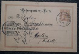 Kaiserreich 1894, Postkarte KLOSTERNEUBURG - COETHEN - 1850-1918 Empire