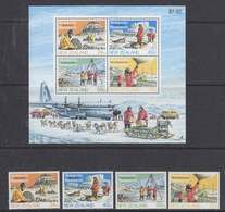 New Zealand 1984 Antarctic Research 4v + M/s ** Mnh (45028) - Unused Stamps
