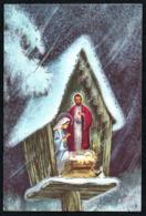 C9377 - Weihnachten - Weihnachtskrippe Krippe - Faltblatt - Noël