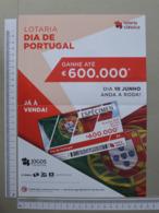 PORTUGAL   2019 - CARTAZ LOTARIA CLASSICA FORMATO A4 DOBRA AO MEIO  2 SCANS  - Nº 24 - (Nº32086) - Lottery Tickets