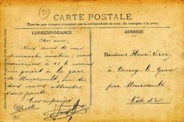 CP Envoi à Leroy à Auxey Le Grand Par Meursault Cote D' Or. CP Dijon Caserne Vaillant - France