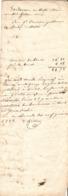 Vieux Papier Du Béarn, 1838, Bordereau De Collocation Sur Jean Candau, Pasteur De Brebis à Castet En Ossau - Documents Historiques