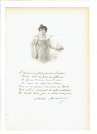AMELIE DE WAILLY MESUREUR 1853 1926 PARIS POETE ROMANCIERE PORTRAIT GRAVE AUTOGRAPHE BIOGRAPHIE ALBUM MARIANI - Historical Documents