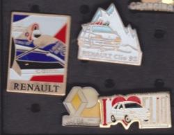 4 PIN'S - RENAULT  CLIO  FORMULE 1 SACOA - Renault