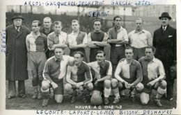 Sport .10010 .football .equipe Havre A C 1942 1943 .carte Postale Photo . - Voetbal