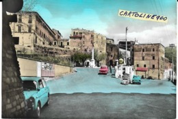 Lazio-roma-s.gregorio Da Sassola Largo Brancaccio Veduta Largo Benzinaio Shell Auto Epoca Fiat 1100 Fiat 850 Bianchina - Autres Villes