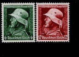 Deutsches Reich 569 - 570 Y Heldengedenktag MNH Postfrisch ** Neuf (2) - Deutschland