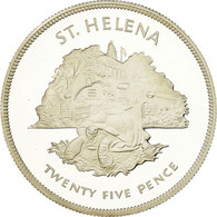 Monnaie, Saint Helena, Elizabeth II, 25 Pence, Crown, 1977, British Royal Mint - Sint-Helena