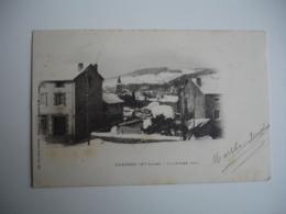 Dunieres Cpa Dos Simple  12 Fevrier 1901 Sous La Neige - Otros Municipios