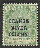 Orange Free State 1900. ½d Green, SACC 78**, SG 133**. - Oranje-Freistaat (1868-1909)