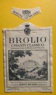 12120 - Brolio  1978 Chianti Classico Barone Ricasoli Italie - Other