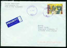 Br Finland Cover Sent To Germany, Crailsheim | Tampere 4.7.1997 | Europa Cept - Finland