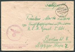 1941 Germany Navy Fieldpost Feldpost 40973 Cover - Aviation Ministry, Berlin. - Briefe U. Dokumente