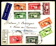 LIBAN - Lettre En RECOMMANDE Par AVION De BEYROUTH 1937 - Libanon