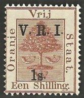 Orange Free State 1900. 1s Brown RAISED STOPS. SACC 67**, SG 121**. - Oranje-Freistaat (1868-1909)