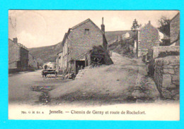 CPA JEMELLE- Chemin De Gerny Et Route De Rochefort- Petite Anim.- Circulée 1920 - 791. G.H.Ed. A - 2 Scans - Belgique