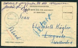 1946 Germany POW Kriegsgefangener Egypt - Lignica / Liegnitz Poland - Germany