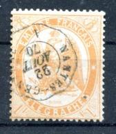 Timbre Télégraphe - Yvert 7 Orange Clair - Cote 22 - Lot 197 - Telegraph And Telephone