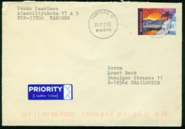 Br Finland Cover Sent To Germany, Crailsheim | Tampere 20.11.2002 | Reindeer, Lapland - Finland