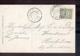 Heukelum Grootrond Hoek Van Holland Station 1 Langebalk 1912 - Postal History