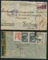 WW2 Airmail Censor Covers X 7 Argentina LATI, Uraguay, El Salvador, Chile - Germany USA Switzerland - Argentina