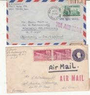 2 Enveloppes   U S  ZONE Cachet Censure  2 Scan - Amerikaanse-en Britse Zone