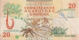 COOK ISLANDS 20 DOLLARS 1992 UNC P 9 - Cookeilanden