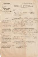 DOCUMENTO DEL REGNO D'ITALIA - Anno 1881 - Italia