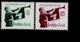 Deutsches Reich 584 - 585 X Jugend Werttreffen MNH Postfrisch ** Neuf (1) - Deutschland