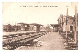 CPA ROUMAZIERES LOUBERT - La Gare Et La Passerelle - Train - Vue Intérieure Peu Commune - Sonstige Gemeinden