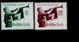 Deutsches Reich 584 - 585 Y Jugend Werttreffen MNH Postfrisch ** Neuf (2) - Ungebraucht