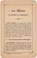 La Messe Du Soldat En Campagne - La Messe En Temps De Guerre / WW1 - Documenten