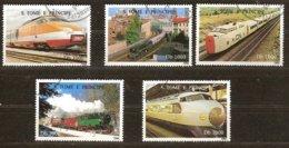 St-Thome Et Principe 1996 Yvertn° 1264CZ-DD (°) Oblitéré Cote 7,50 € Chemin De Fer Treinen Trains - Sao Tome Et Principe