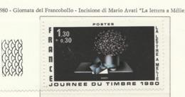 """PIA - FRAN -1980 : Giornata Del Francobollo - """"La Lettera A Mélie"""" Incisione Di Mario Avati  - (Yv 2078) - Giornata Del Francobollo"""