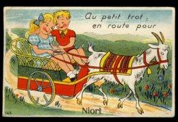 Au Petit Trot, En Route Pour Niort - Carte à Système - Niort