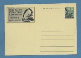 1953 - TRIESTE AMG FTT  INTERO POSTALE L.20 SALONE INTERNAZIONALE AUTOMOBILE - Storia Postale
