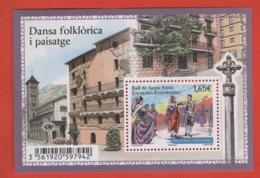 BF78 Andorre ** 2014 Bloc Danse Folklorique - Blocks & Sheetlets