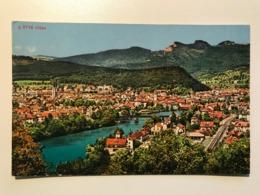 Switzerland Suisse Schweiz Olten Solothurn View Railway Rail Way Bahn River Bridge 11589 Post Card Postkarte POSTCARD - SO Solothurn
