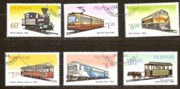 Pilipinas Philippines 1984 Yvertn° 1412-1417 (o) Oblitéré Cote 6,00 Euro Euro Chemin De Fer Treinen Trains - Philippines