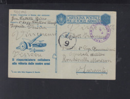 Cartolina Per Le Forze Armate 1943 Vittoria Delle Nostre Armi - 1900-44 Victor Emmanuel III