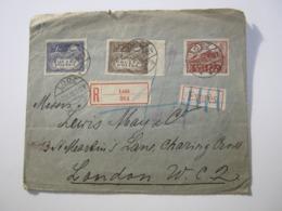 1919 , Einschreiben Aus LODZ Nach London - ....-1919 Übergangsregierung