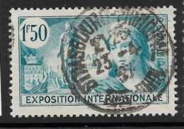 Yvert 336 Maury 336 - 1 F 50 Exposition Paris 1937 - O - Usados