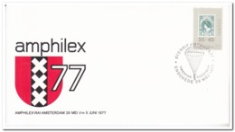 Nederland 1977, Sterrit Amphilex, Day Of The Mail ( Twenthe - Soestdijk ), Parachuting - Fallschirmspringen