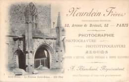 Publicité - Cartes Postales - Carte Représentant Neurdein Frères Photographes-Editeurs, ND Phot, Sur Cpa St-Brieuc - Advertising