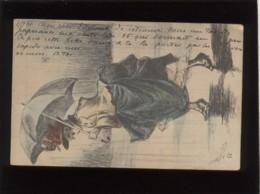 Femme En Bottines Sous La Pluie Illustrée Par Henri Boutet Précurseur En 1901 Illustrateur - Boutet