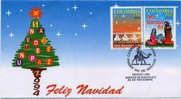 Lote 1964-5F, Colombia, 1994, SPD - FDC, Navidad, Christmas - Colombia
