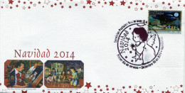 Lote 2014-8F, Colombia, 2014, SPD-FDC, Navidad, Christmas, Paintings Made With The Mouth And Feet - Colombia