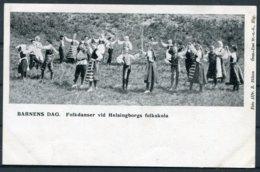 1905 Sweden Barnens Dag Helsingborg Folk Dancing Postcard. - Sweden