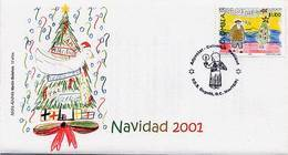 Lote 2183F, Colombia, 2001, SPD-FDC, Navidad, Christmas - Colombia